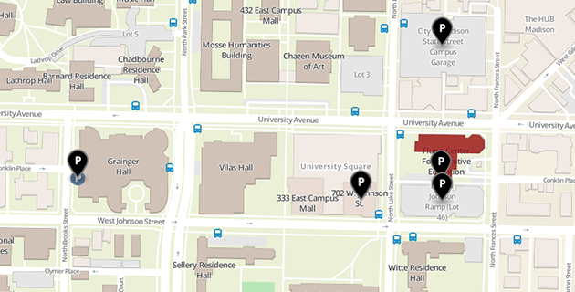 Campus map of Fluno Center