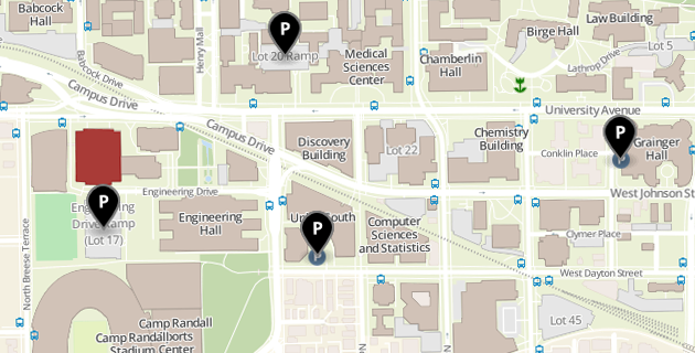 Campus map of Mechanical Engineering