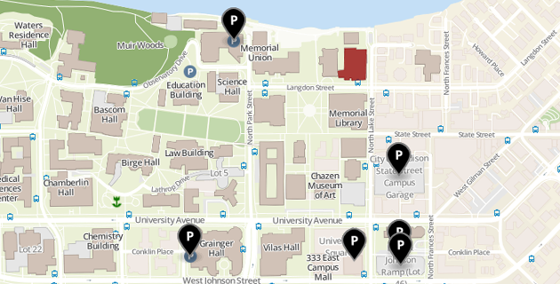 Campus map of Pyle Center